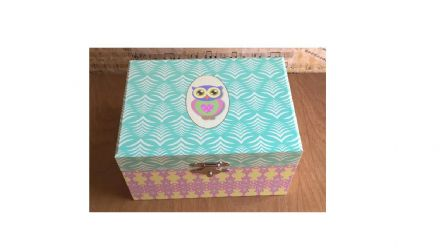 Little Owl Musical Jewellery Box 22167